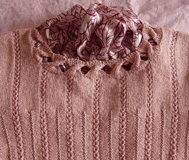 как вывязать горловину свитера вывязывание горловины спицами