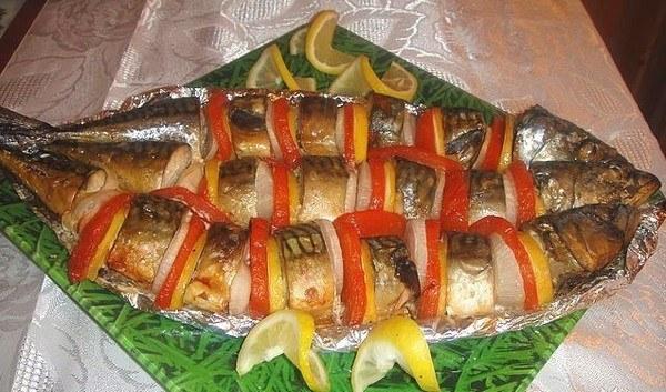 скумбрия запеченная в духовке с горчицей в фольге рецепт с фото