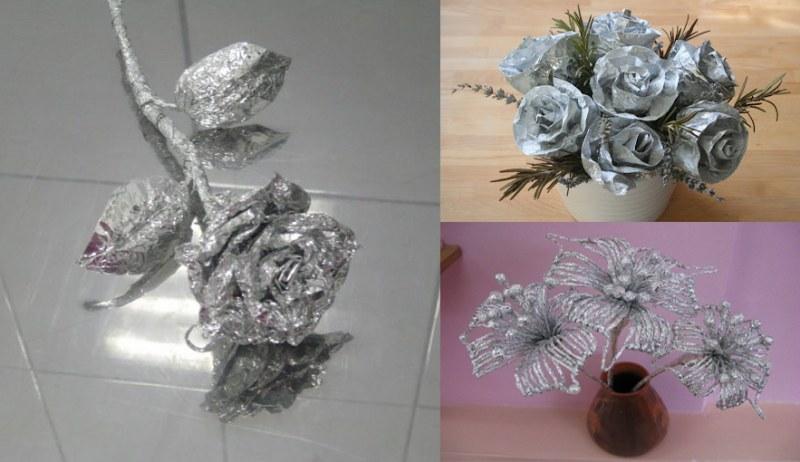 Цветы своими руками из фольги