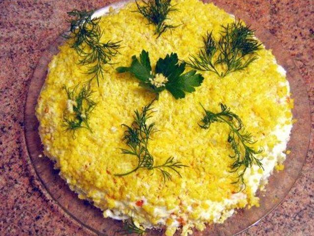 Салат мимоза традиционная #6