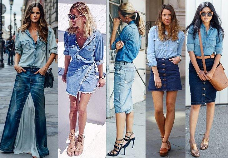 Деним джинсовые юбки