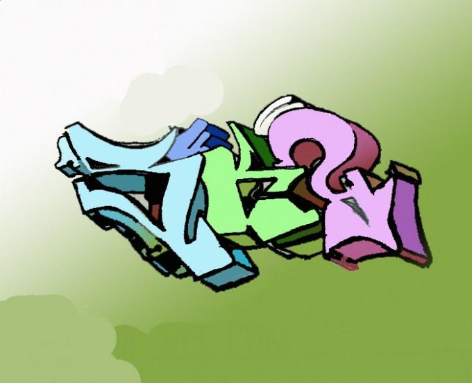 Инструкция как можно нарисовать граффити