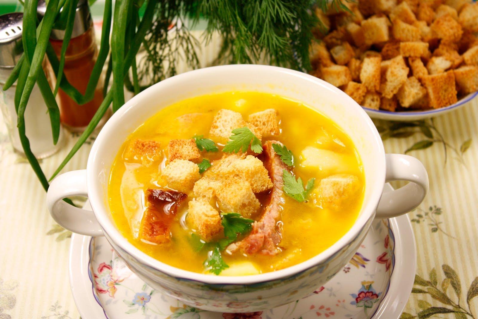 гороховый суп с копченостями и потрохами рецепт