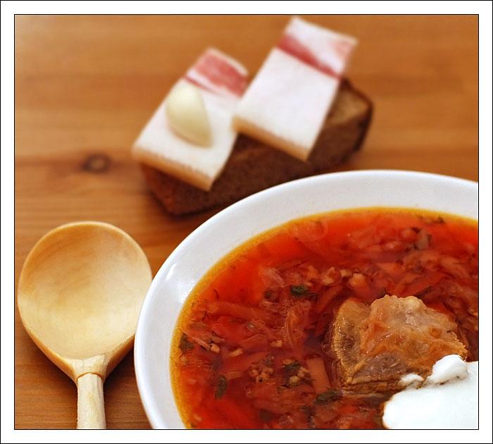 украинский борщ с салом пошаговый рецепт с фото