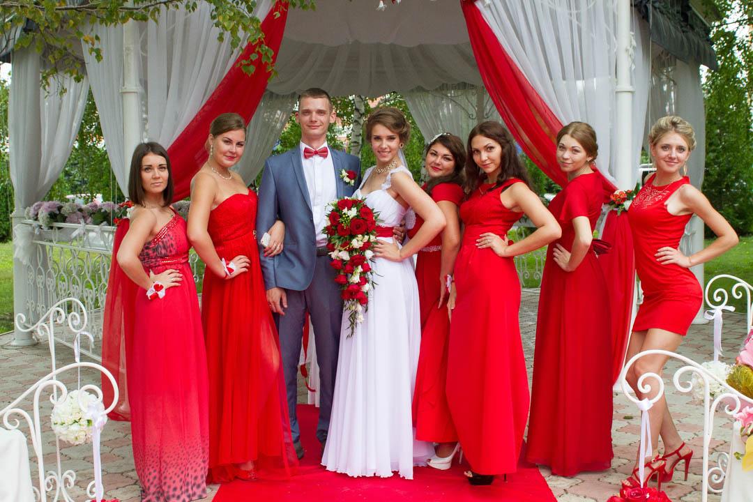 Свадьба в красном цвете. фото