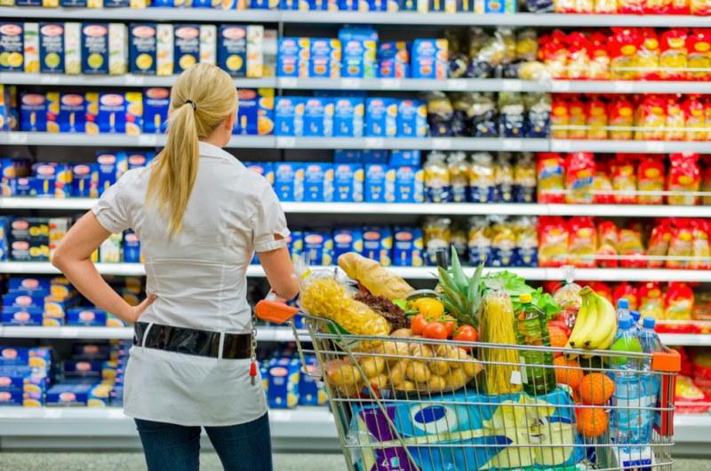 Расходы на продукты питания в месяц