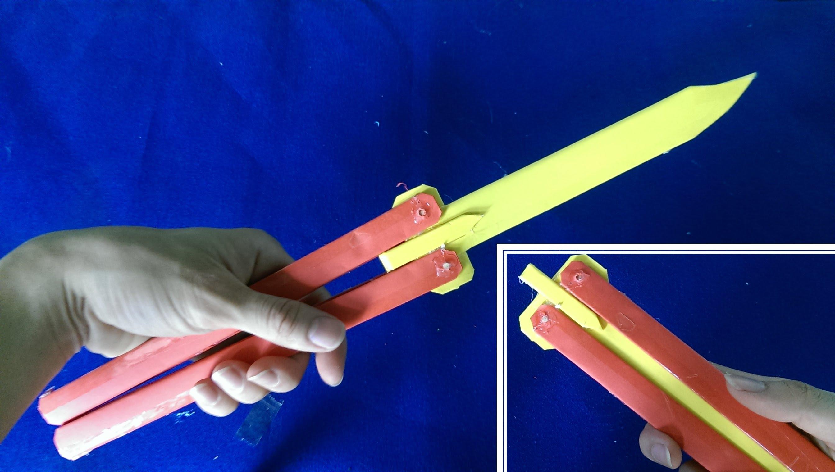 Как сделать из бумаги нож фото 734