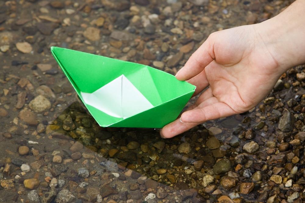 Оригами из бумаги как сделать вазу из