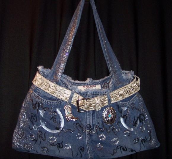 Выкройки сумок из джинсы 173
