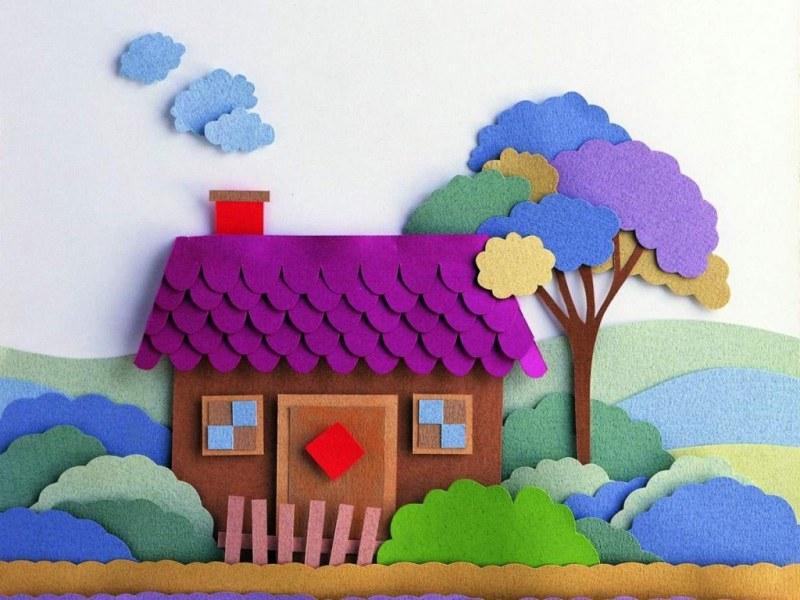 Как сделать аппликацию из цветной бумаги и картона