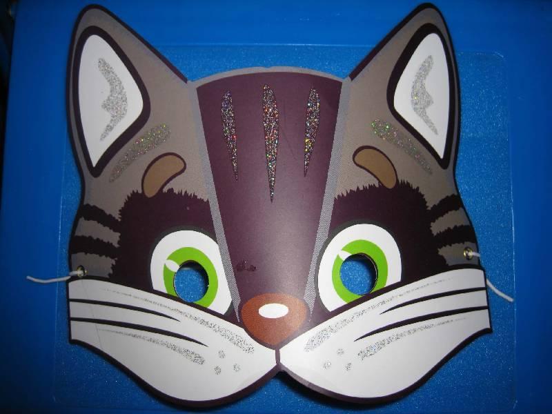 Маска кота из картона своими руками