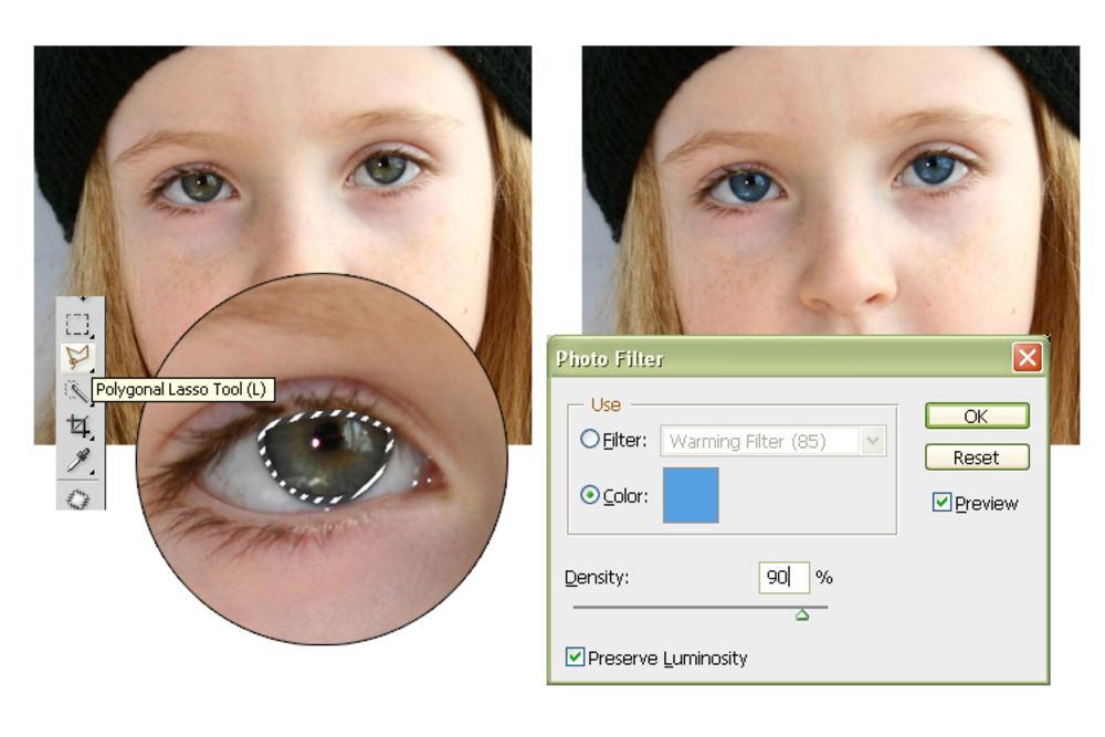 pobedpix.com / синие глаза фотошоп