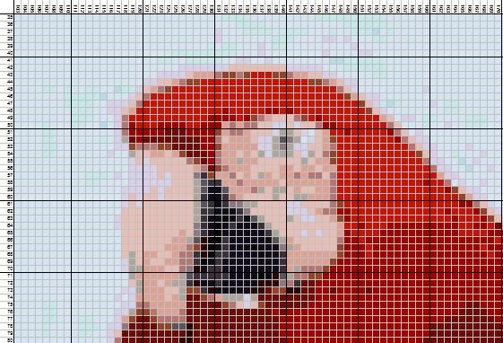 Схема для вышивания в фотошопе
