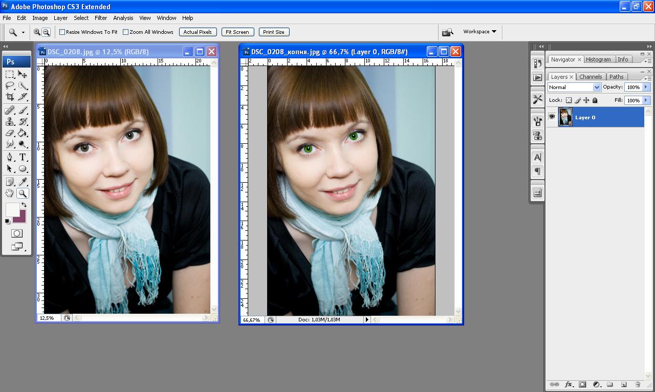 Как в фотошопе изменить цвет всего рисунка