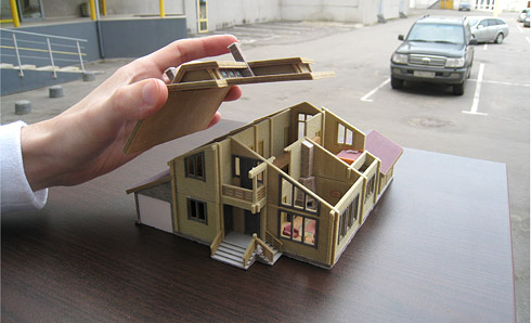 Макет дома своими руками из бумаги 124