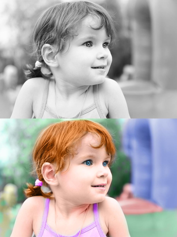 Как на чб фото сделать цветной элемент