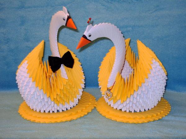 Как делать лебеди из бумаги своими руками