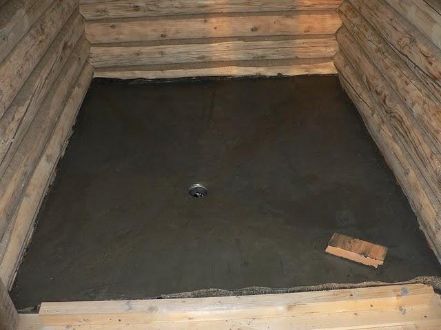 бетонные полы в бане