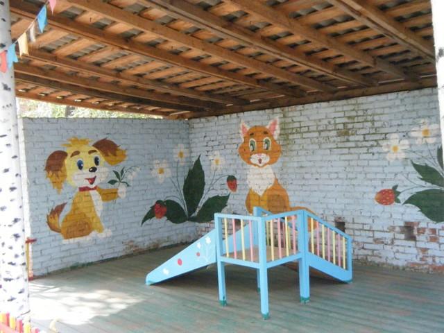 Украсить участок в детском саду своими руками летом фото 198