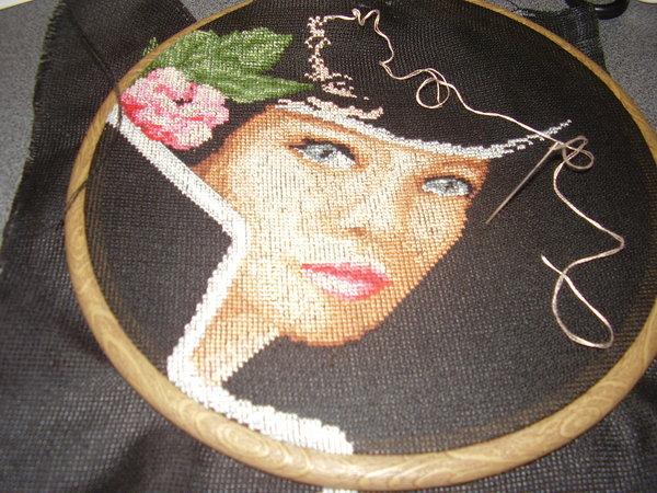 Алмазная вышивка портрета по фотографии