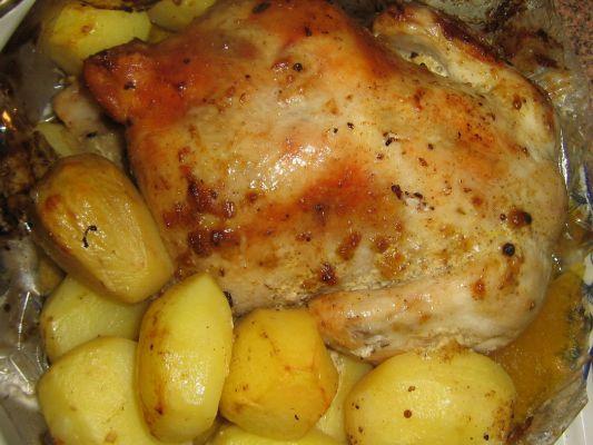 рецепт индейки в духовке с фото в рукаве с картошкой