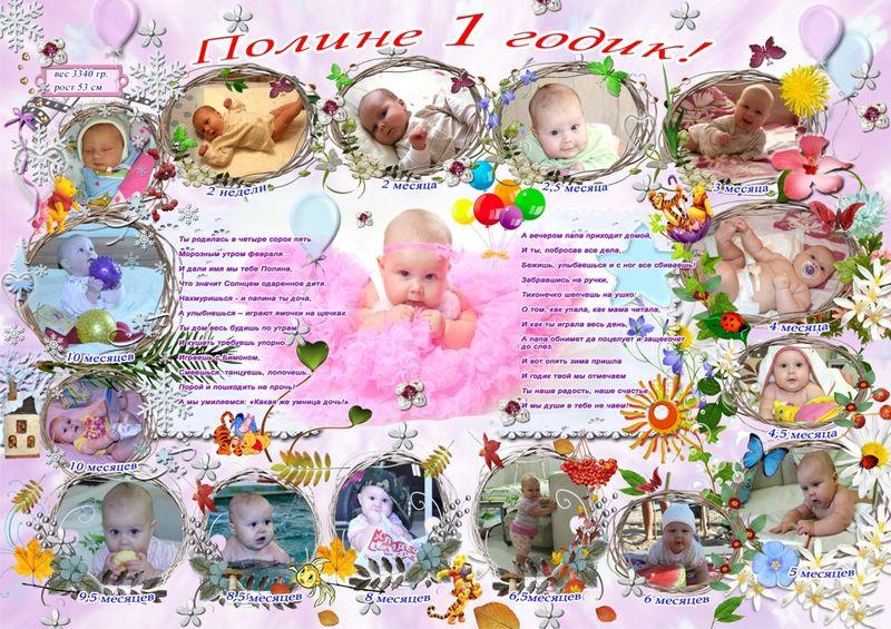 Плакат с днем рождения своими руками сыну на годик