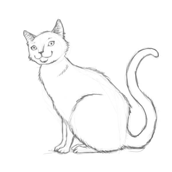 Что можно нарисовать кошку легко