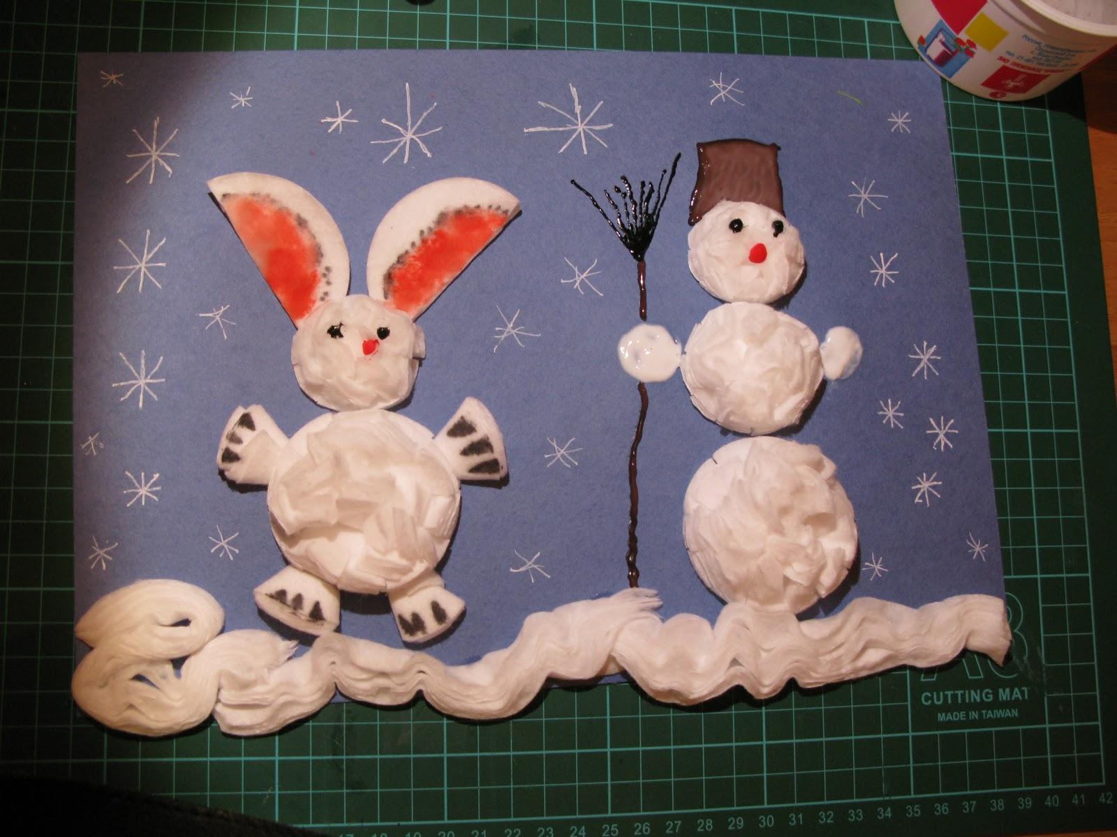 Зимние поделки своими руками для детского сада фото мастер класс