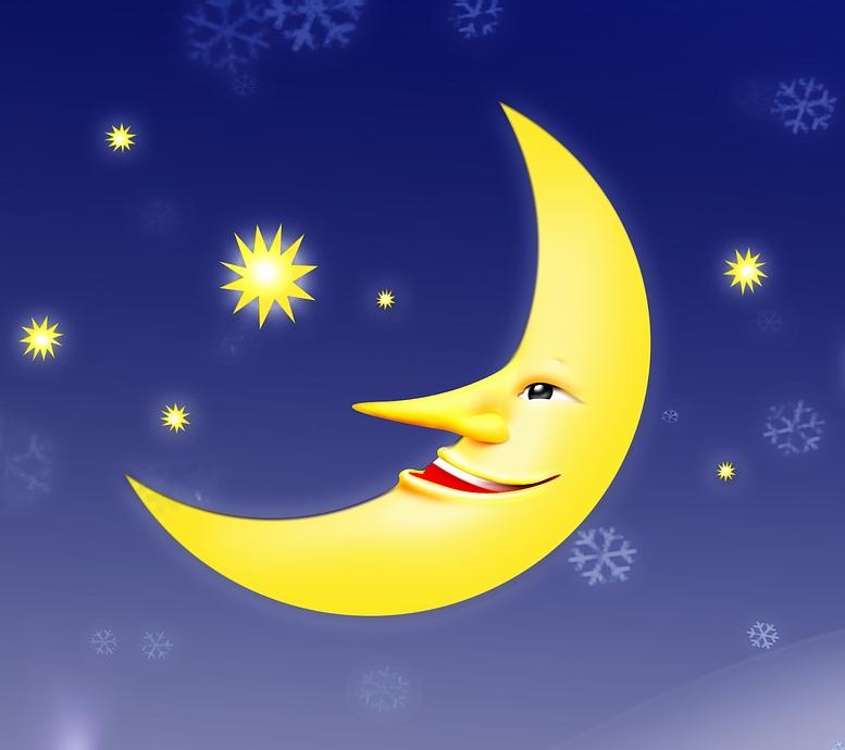 Сказочные картинки ночь луна месяц