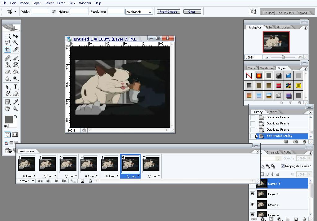 Как создавать анимации из картинок, картинки