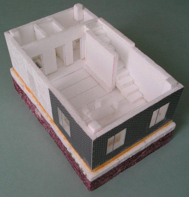 Макет дома своими руками из бумаги 180