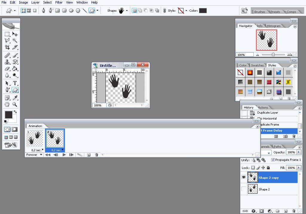Как сделать двигающуюся картинку в фотошоп