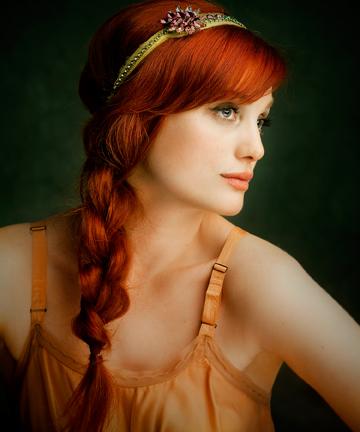 как перекрасить рыжие волосы в светлые