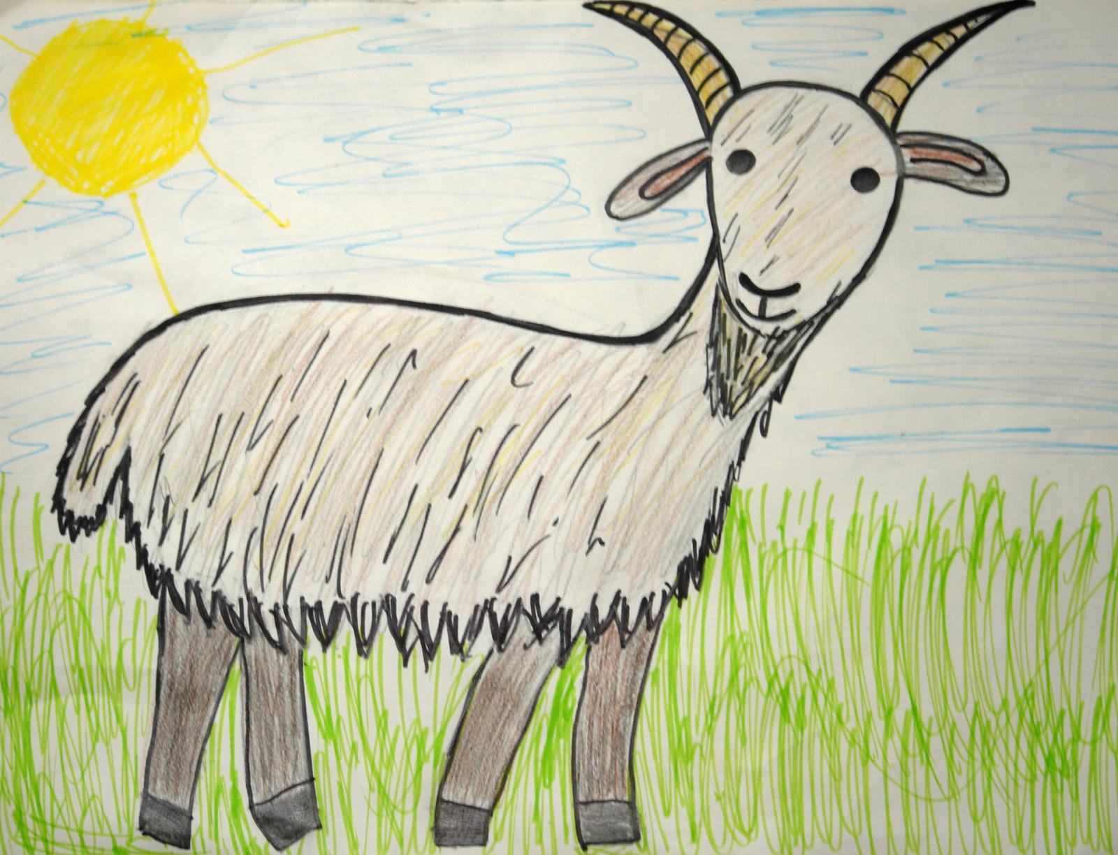 традиционный картинки как нарисовать козлика нами