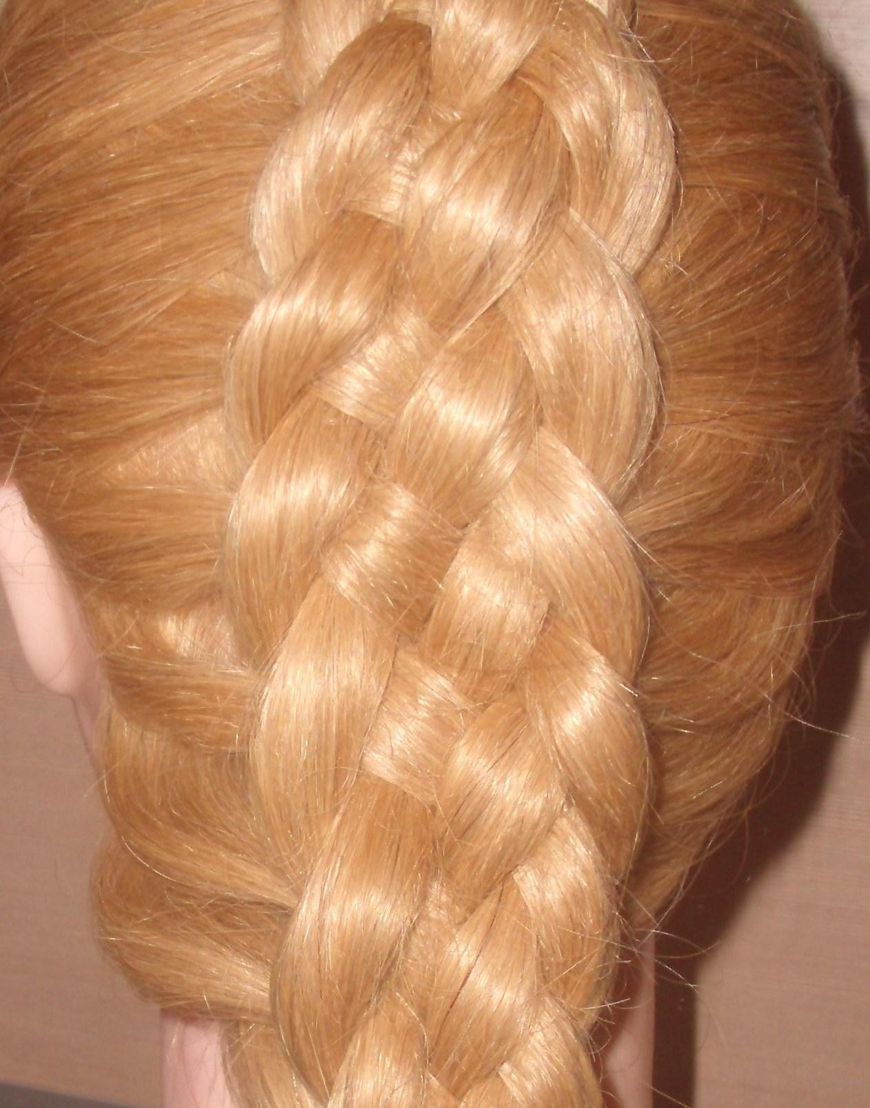 Как сделать обычную косу объемной
