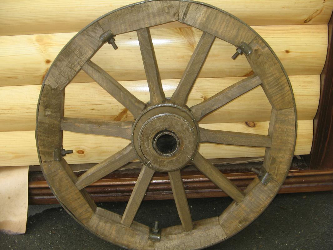 Как сделать деревянное колесо для телеги своими