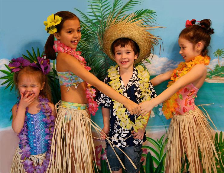 Сделать гавайскую юбку своими руками