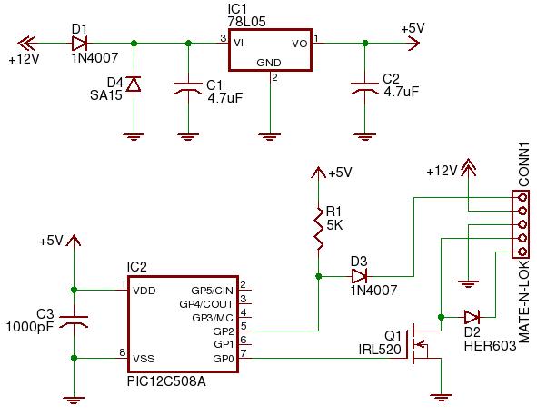 Принципиальная схема электрической цепи