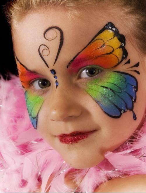 Легкий рисунок на лице ребенку