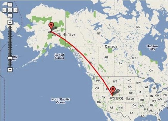 расстояние по карте:
