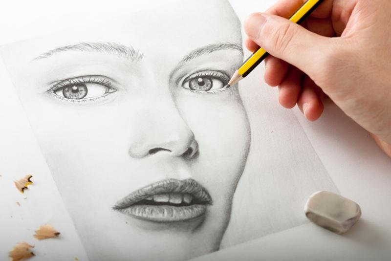 Как нарисовать поэтапно лицо ребенка