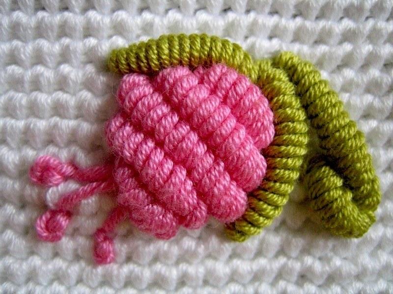 Вышивка рококо из нитки
