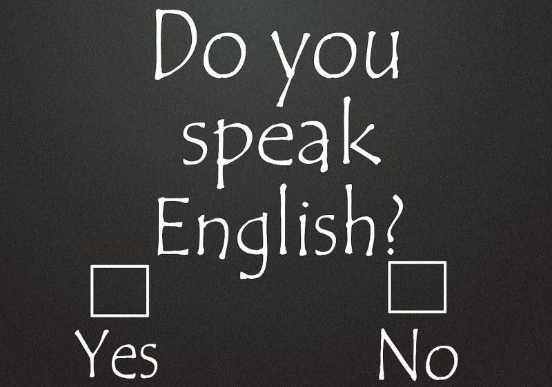 Картинка как я разговариваю на английскому