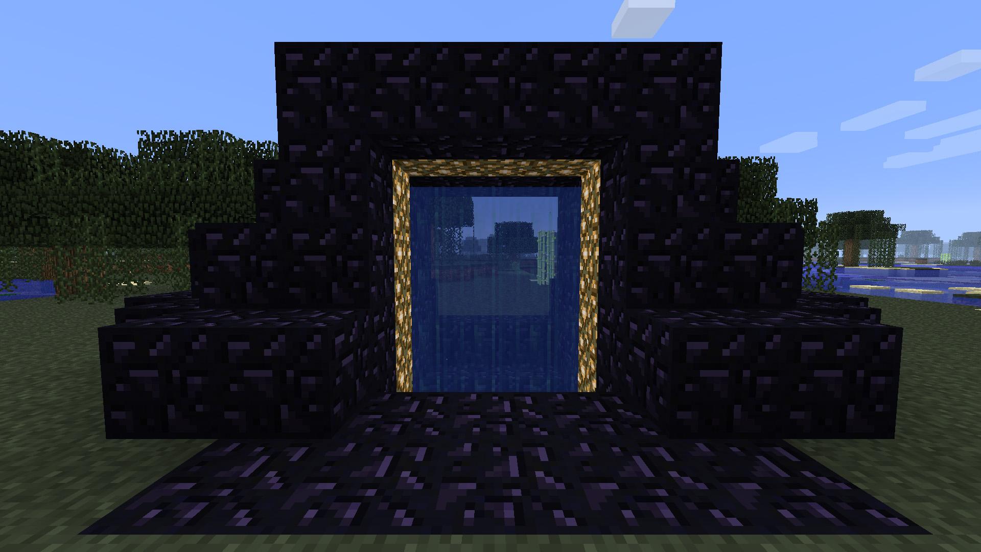 як в майнкрафт зробити портал в город #3