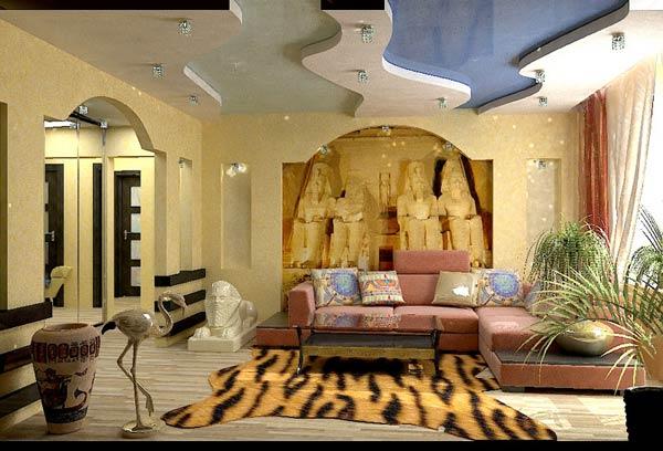 Египетский дизайн комнаты