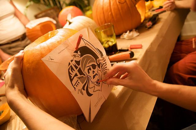 Вопрос сделать тыквенный фонарь на Хэллоуин Hand-made