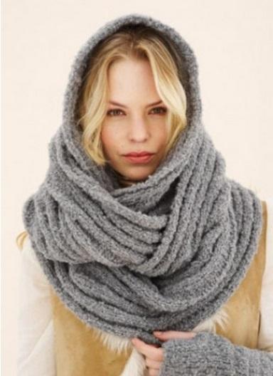 Как носить снуд - длинное платье с шарфом - как носить - Модные тенденции