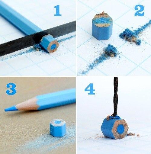 Бусины для колье или браслета из цветных карандашей