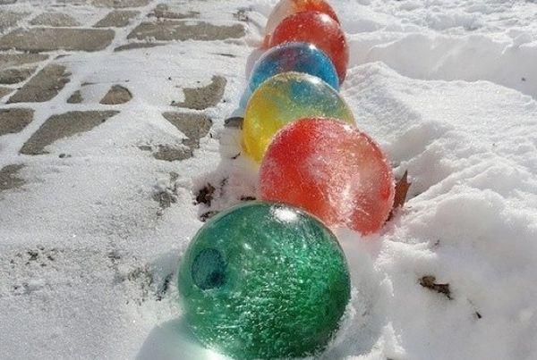 Как на улице сделать лед