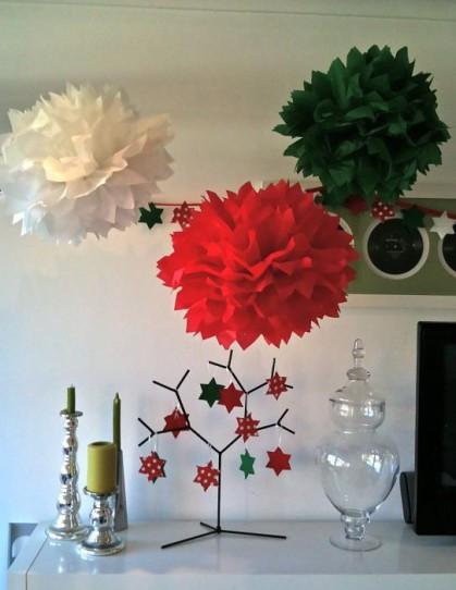 новогодние бумажные шары